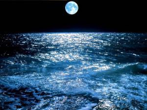 Luna Piena Sul Mare Sfondi Wallpaper