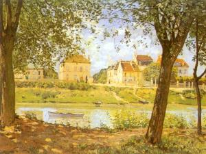 Alfred Sisley - Village on the Banks of the Seine (Villeneuve-la-Garenne)