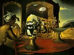 Slave Market with Disappearing Bust of Voltaire - Salvador Dali