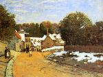 Alfred Sisley - Early Snow at Louveciennes